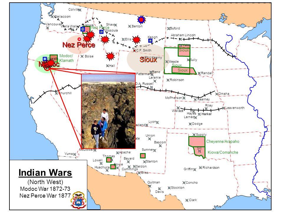 Indian Wars Nez Perce Sioux Modoc (North West) Modoc War 1872-73