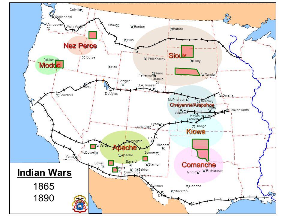 Indian Wars 1865 1890 Nez Perce Sioux Modoc Kiowa Apache Comanche