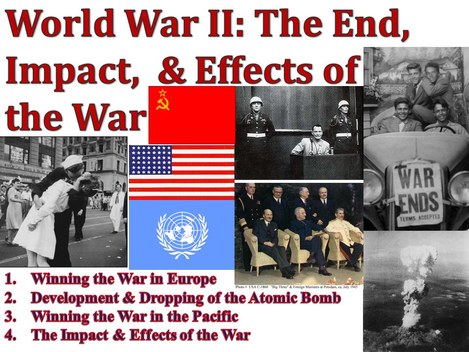 the effects of world war ii World war i caused a number of significant changes in political, social, and economic life in europe the harsh terms of the treaty of versailles led to much dissent, culminating in world war ii.