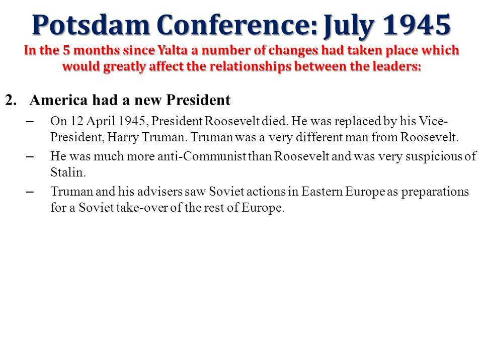 Potsdam Conference: July 1945