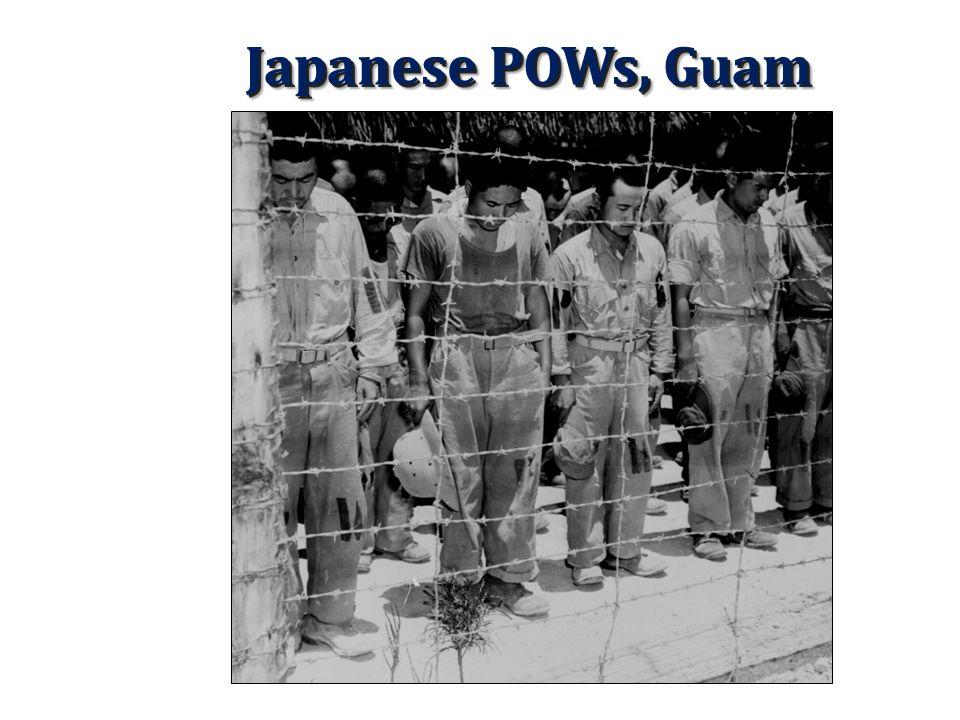 Japanese POWs, Guam