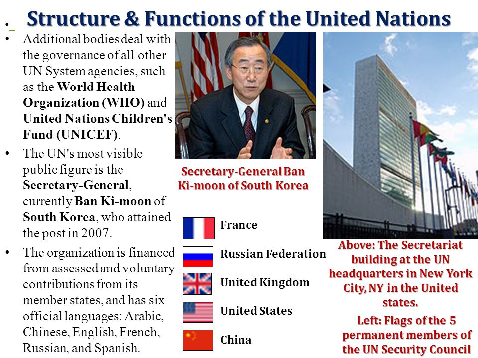 Structure & Functions of the United Nations