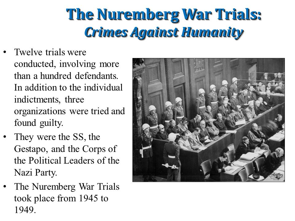 The Nuremberg War Trials: Crimes Against Humanity