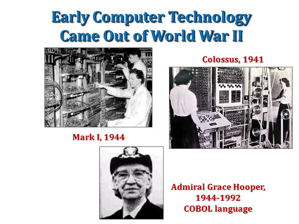 Early Computer Technology Came Out of World War II