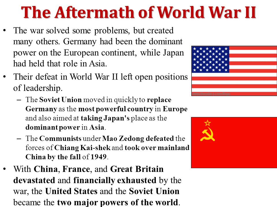 The Aftermath of World War II