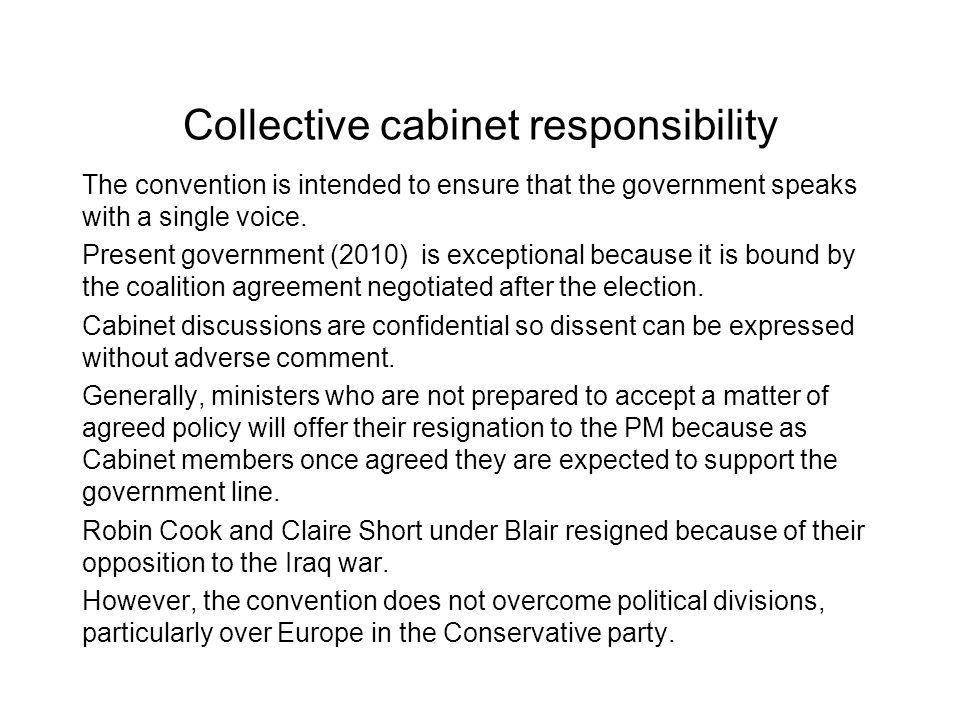 Collective cabinet responsibility