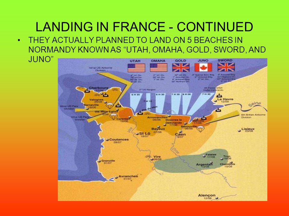 LANDING IN FRANCE - CONTINUED