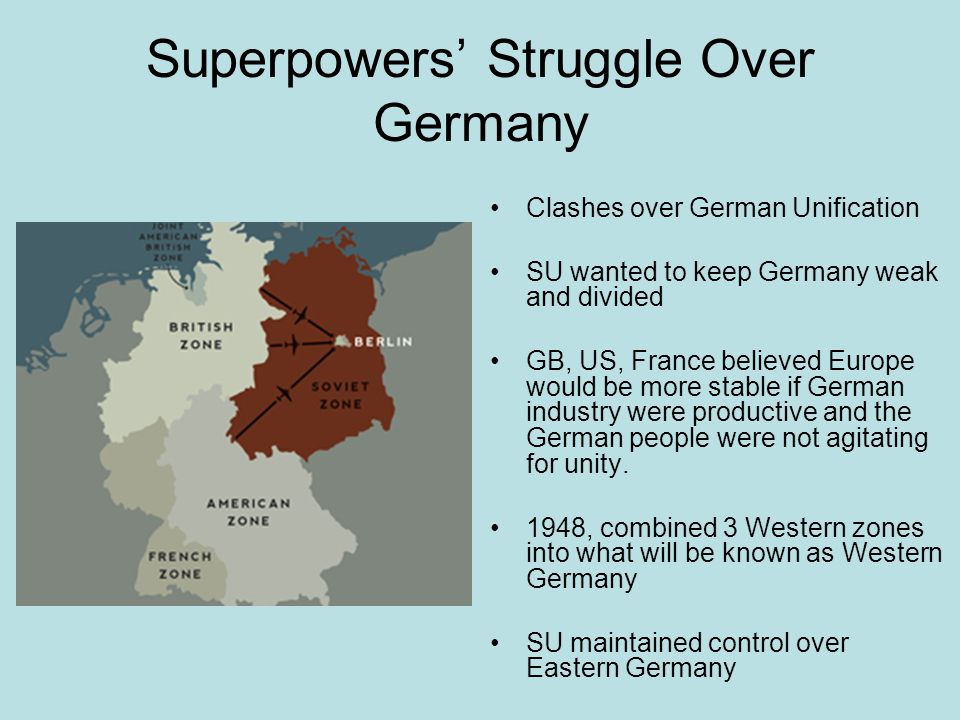 Superpowers' Struggle Over Germany