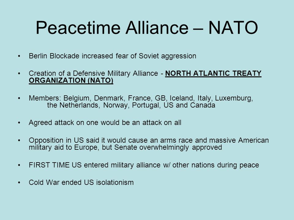 Peacetime Alliance – NATO
