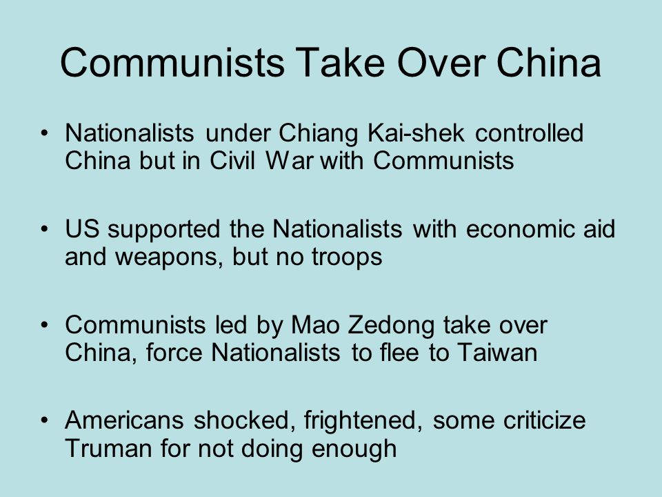 Communists Take Over China
