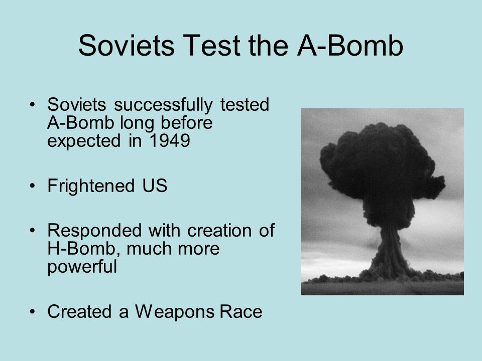 Soviets Test the A-Bomb