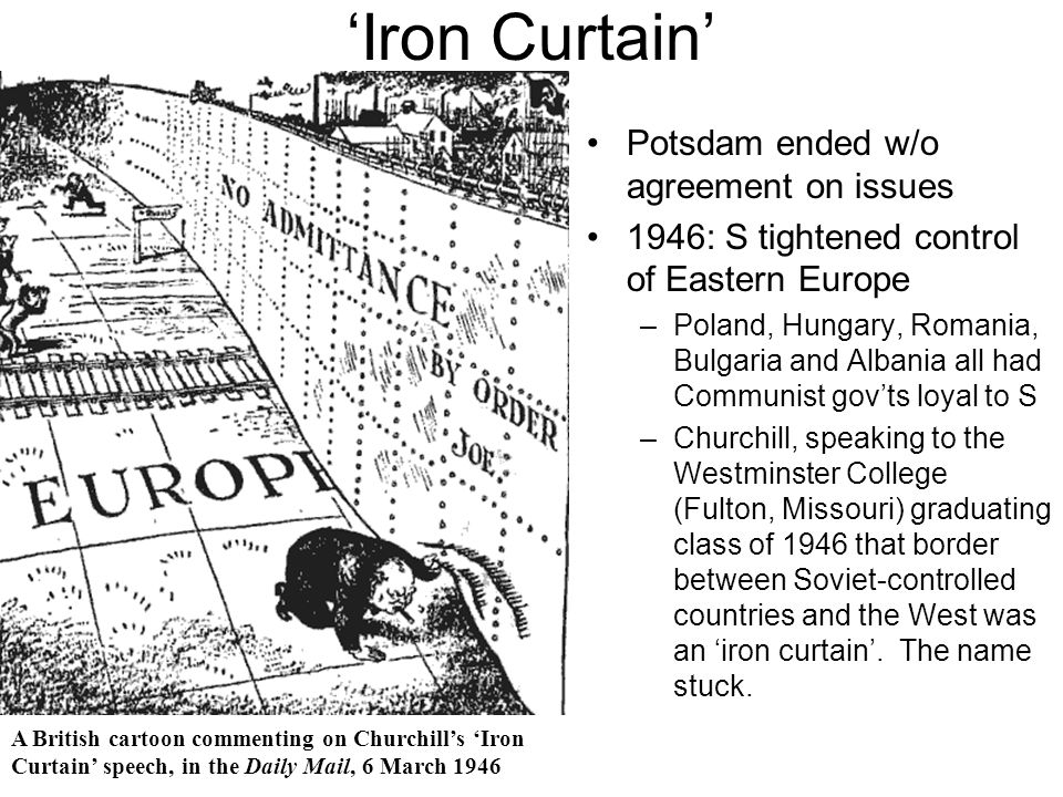 'Iron Curtain' Potsdam ended w/o agreement on issues