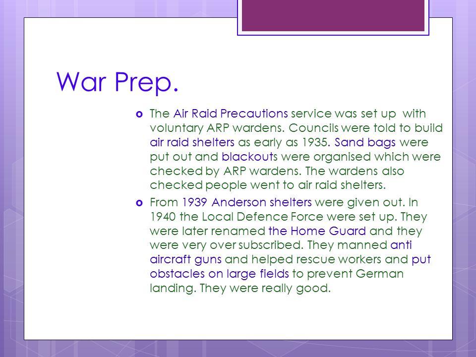 War Prep.