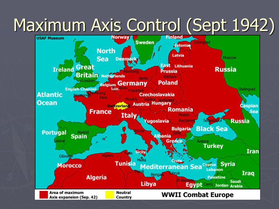 Maximum Axis Control (Sept 1942)