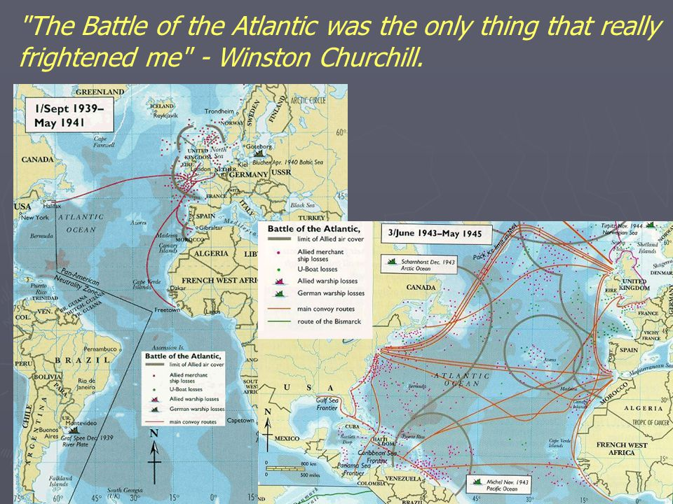 The Battle of the Atlantic was the only thing that really