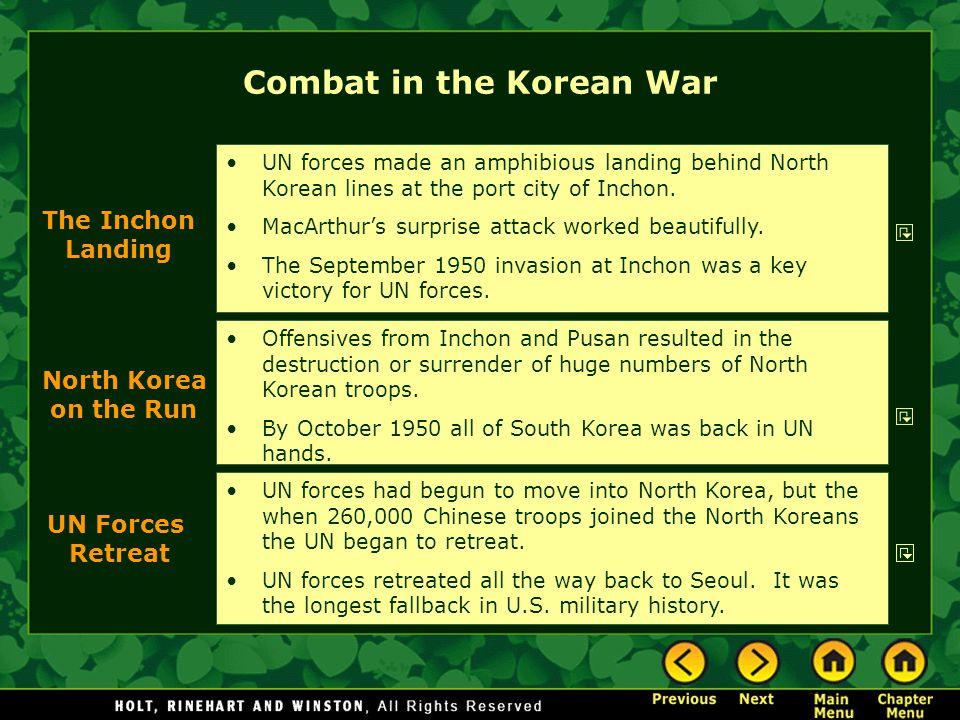Combat in the Korean War