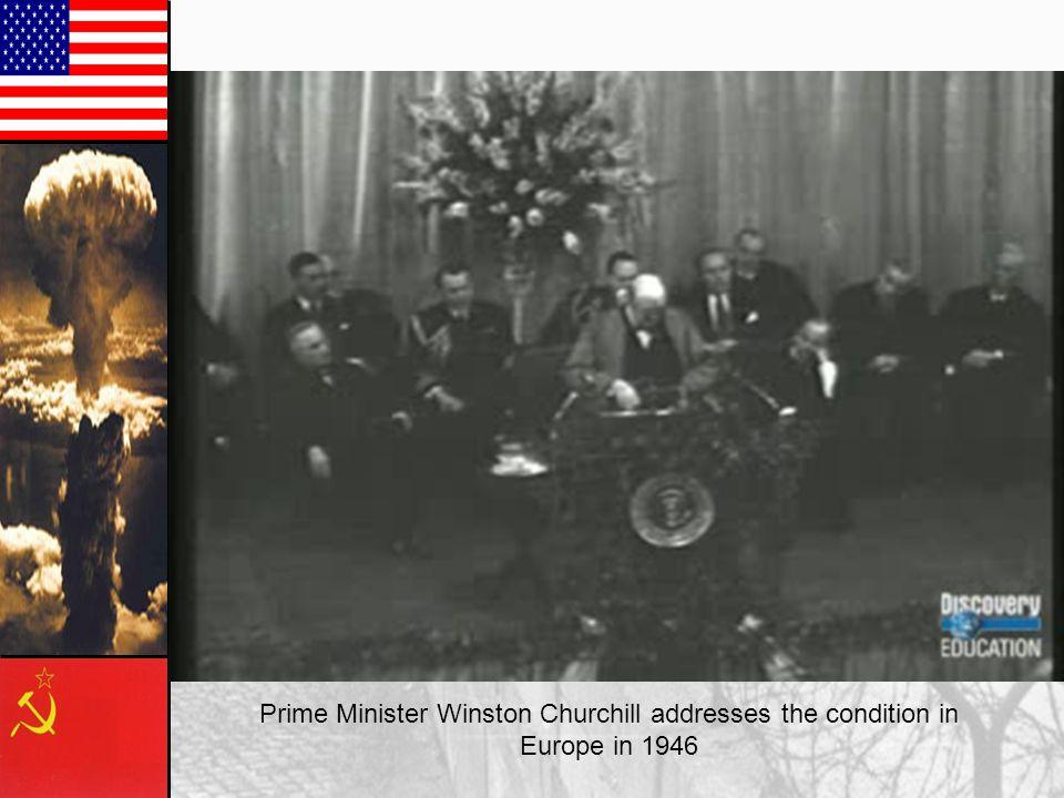 Prime Minister Winston Churchill addresses the condition in
