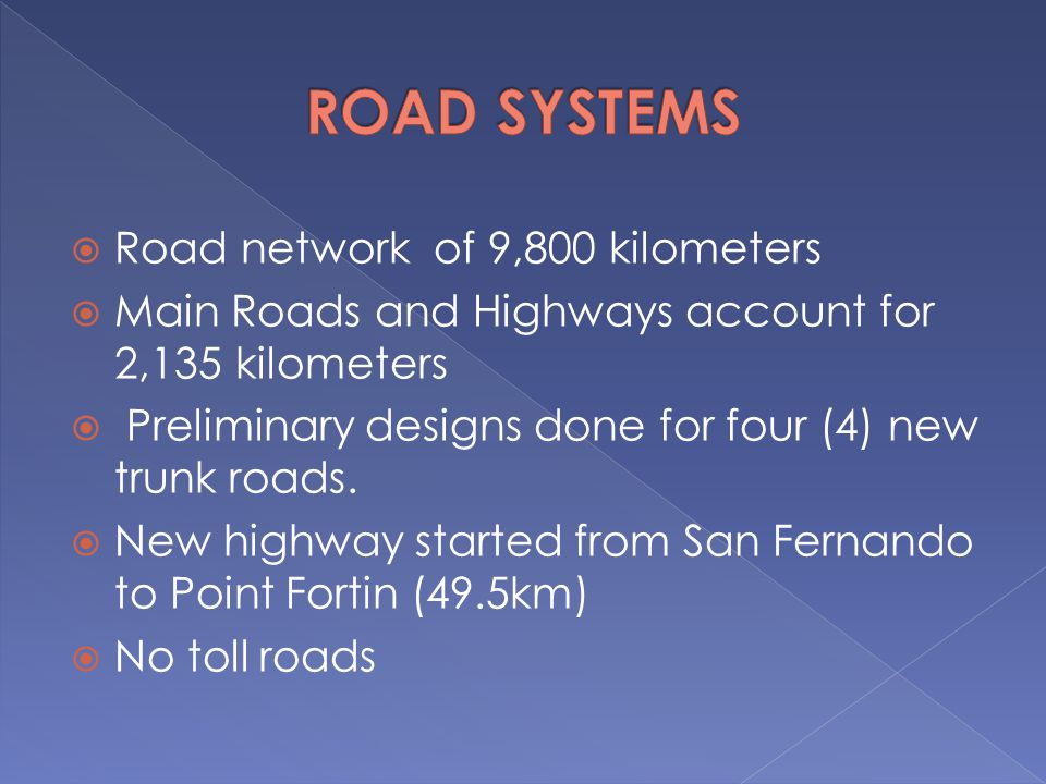 ROAD SYSTEMS Road network of 9,800 kilometers