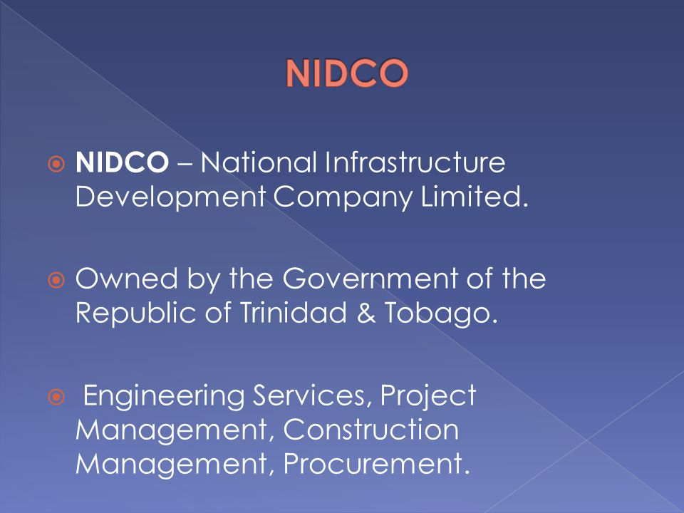 NIDCO NIDCO – National Infrastructure Development Company Limited.