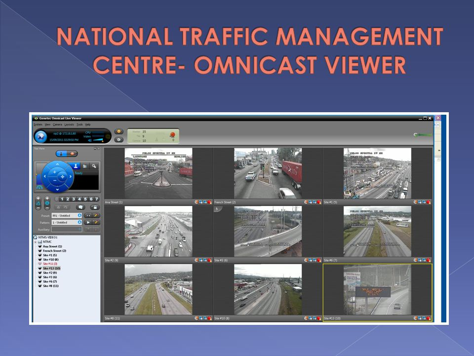 NATIONAL TRAFFIC MANAGEMENT CENTRE- OMNICAST VIEWER