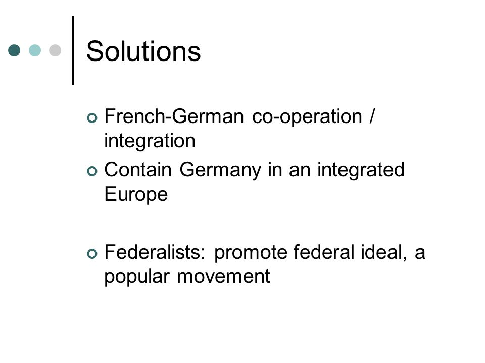Solutions French-German co-operation / integration