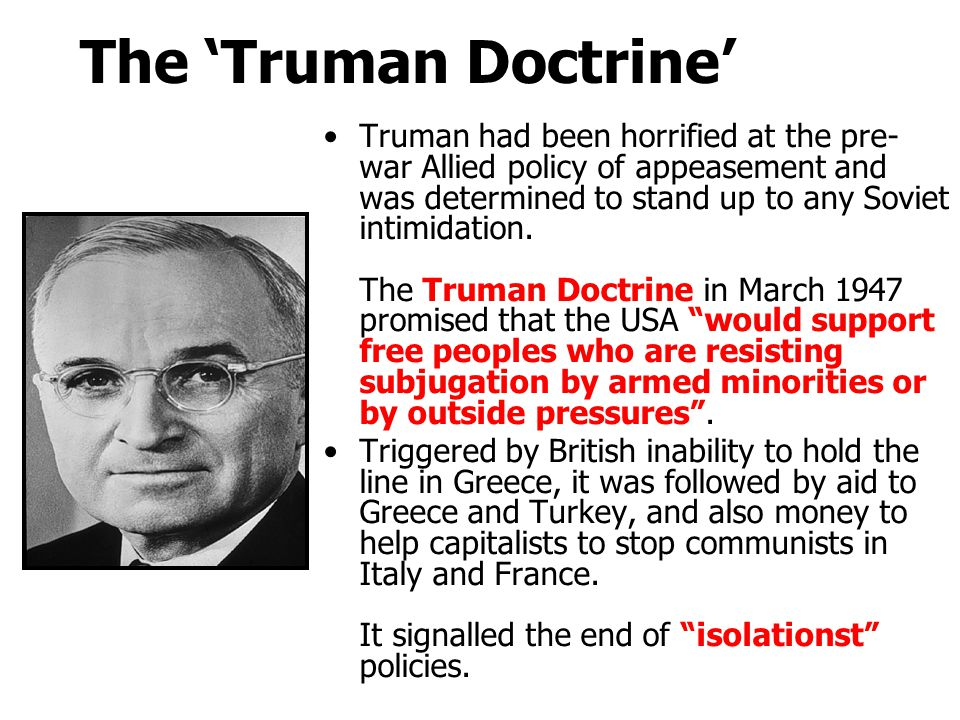 The 'Truman Doctrine'