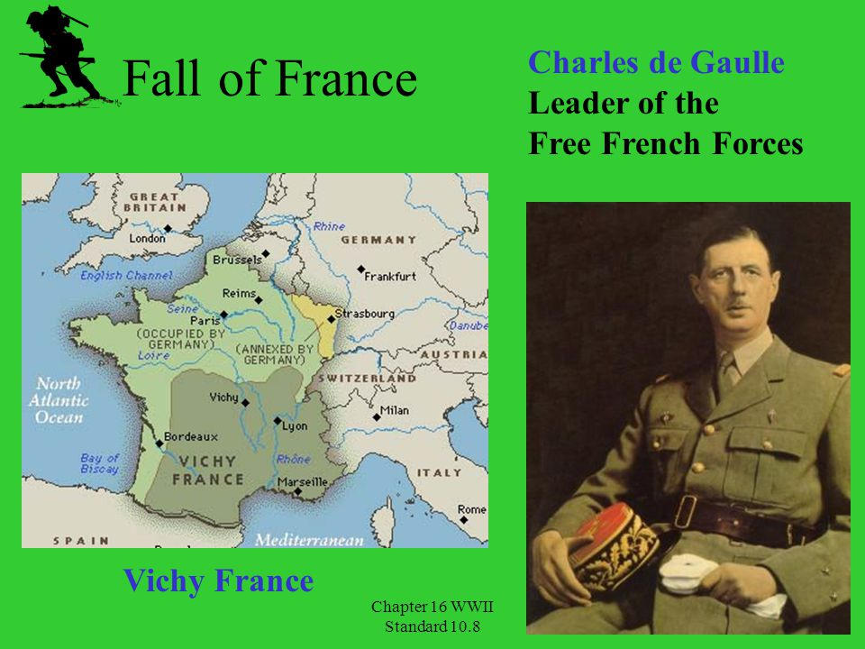 Fall of France Charles de Gaulle Leader of the Free French Forces