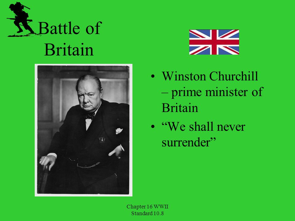 Battle of Britain Winston Churchill – prime minister of Britain