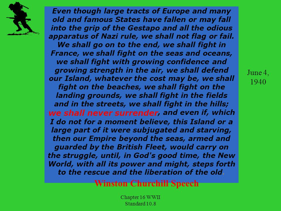Winston Churchill Speech