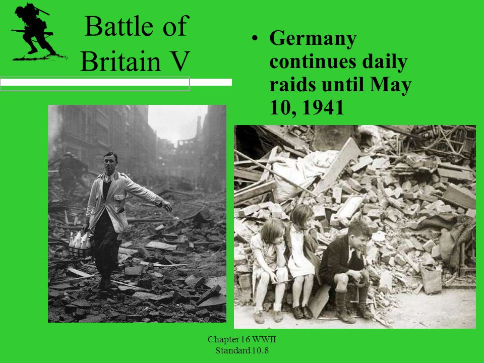 Battle of Britain V Germany continues daily raids until May 10, 1941