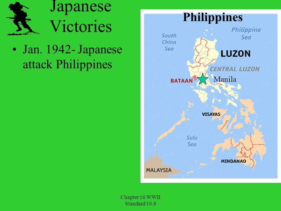 Japanese Victories Philippines Jan. 1942- Japanese attack Philippines