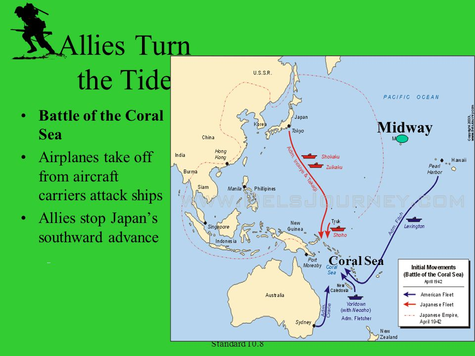 Allies Turn the Tide Battle of the Coral Sea Midway