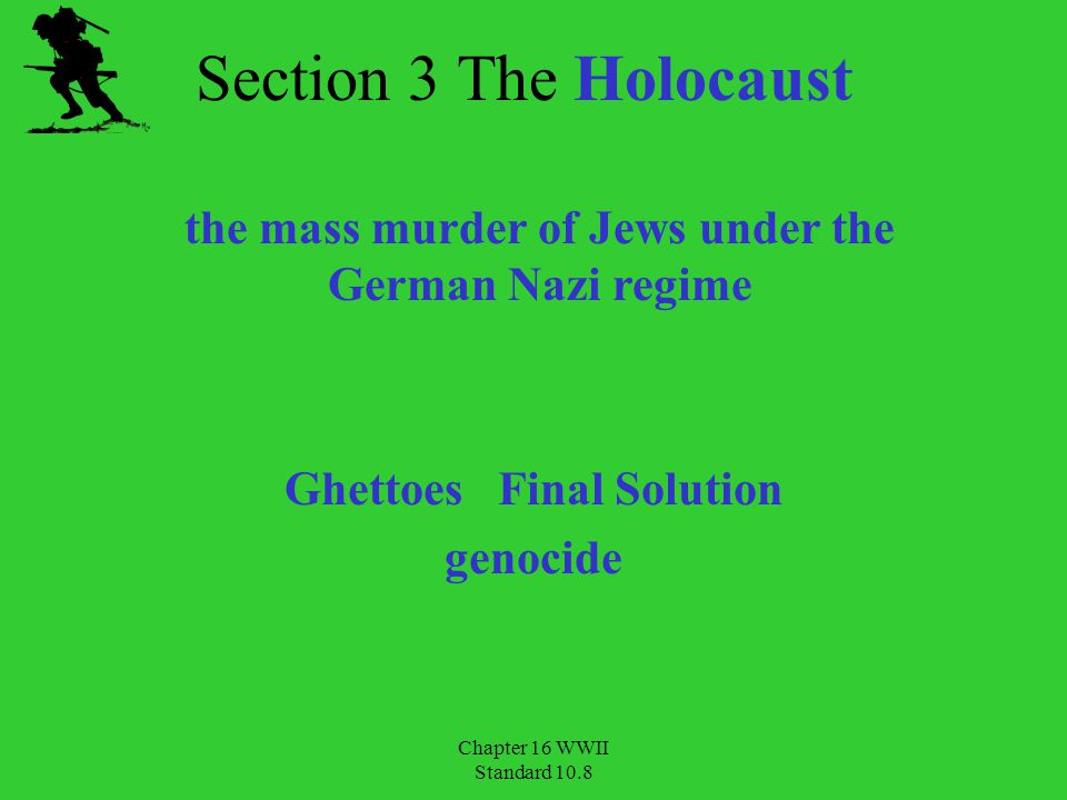 Ghettoes Final Solution genocide