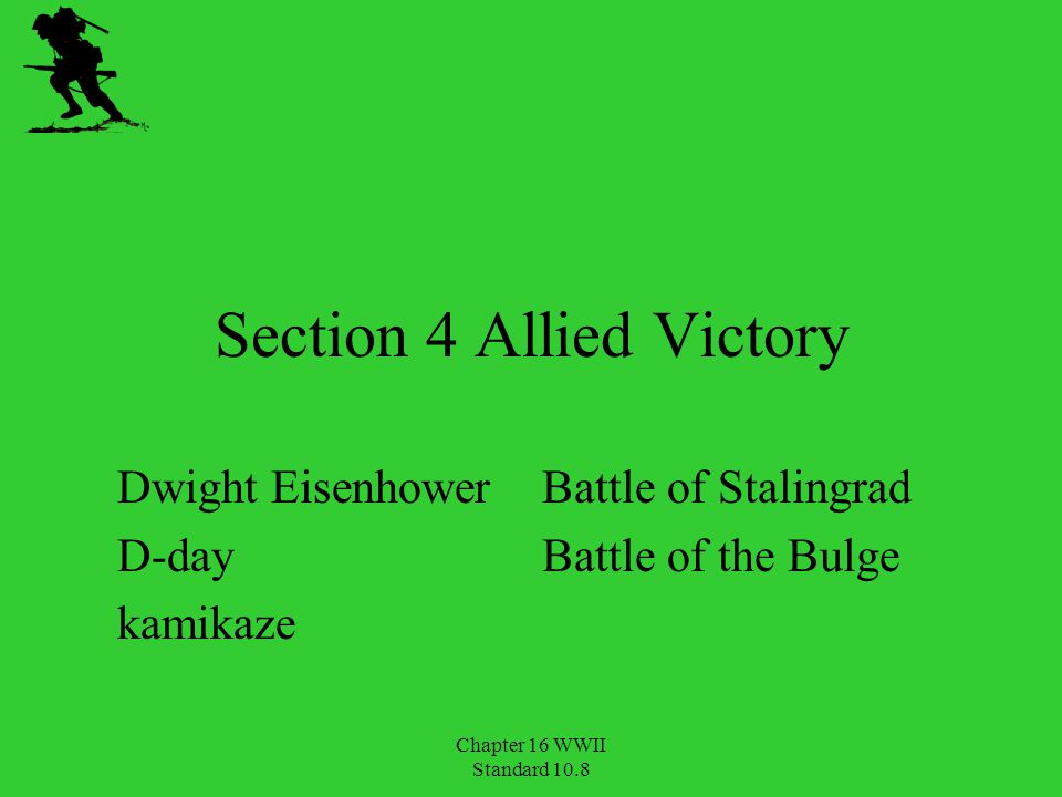 Section 4 Allied Victory