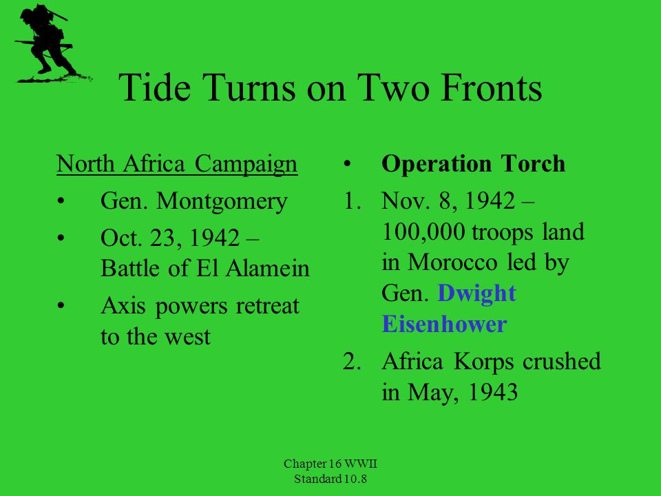 Tide Turns on Two Fronts