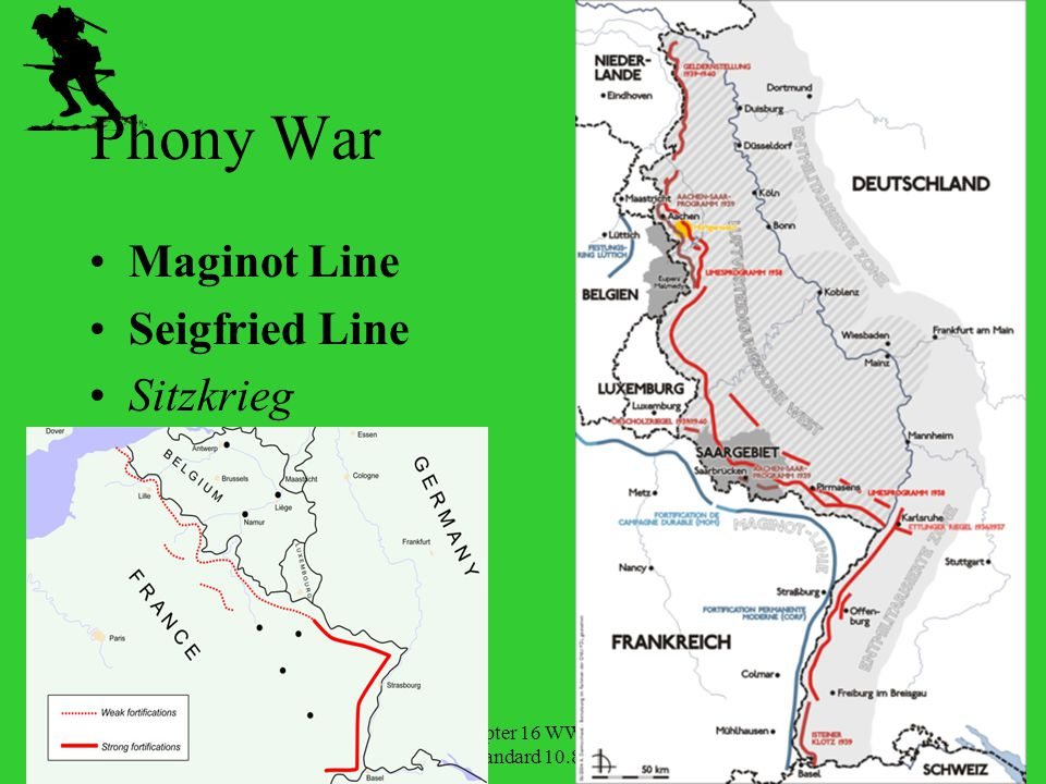 Phony War Maginot Line Seigfried Line Sitzkrieg Chapter 16 WWII