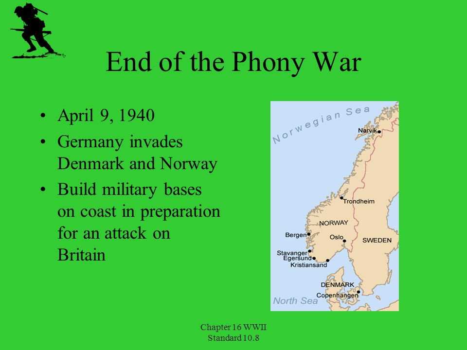 End of the Phony War April 9, 1940 Germany invades Denmark and Norway