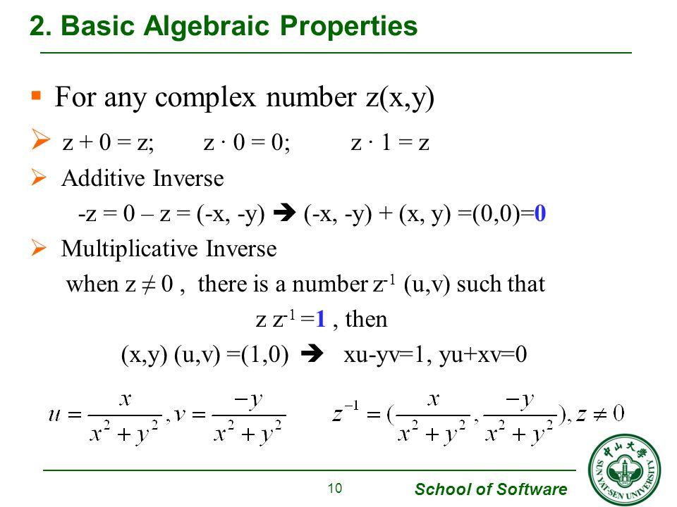 2. Basic Algebraic Properties