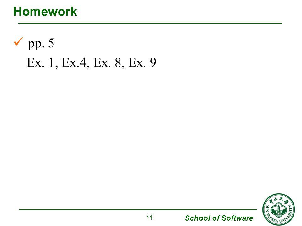 Homework pp. 5 Ex. 1, Ex.4, Ex. 8, Ex. 9