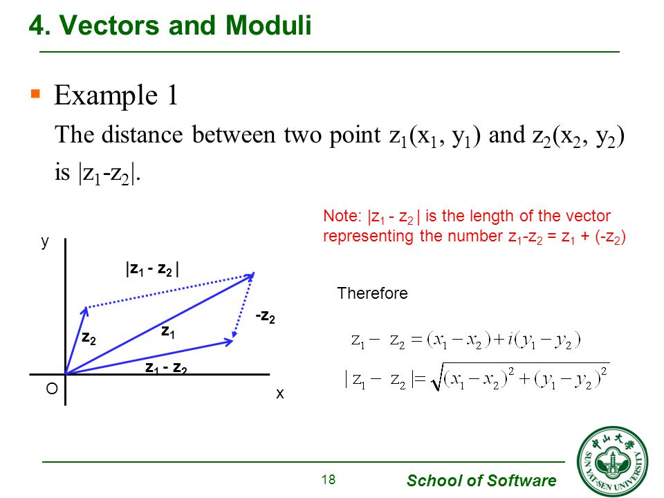 Example 1 4. Vectors and Moduli