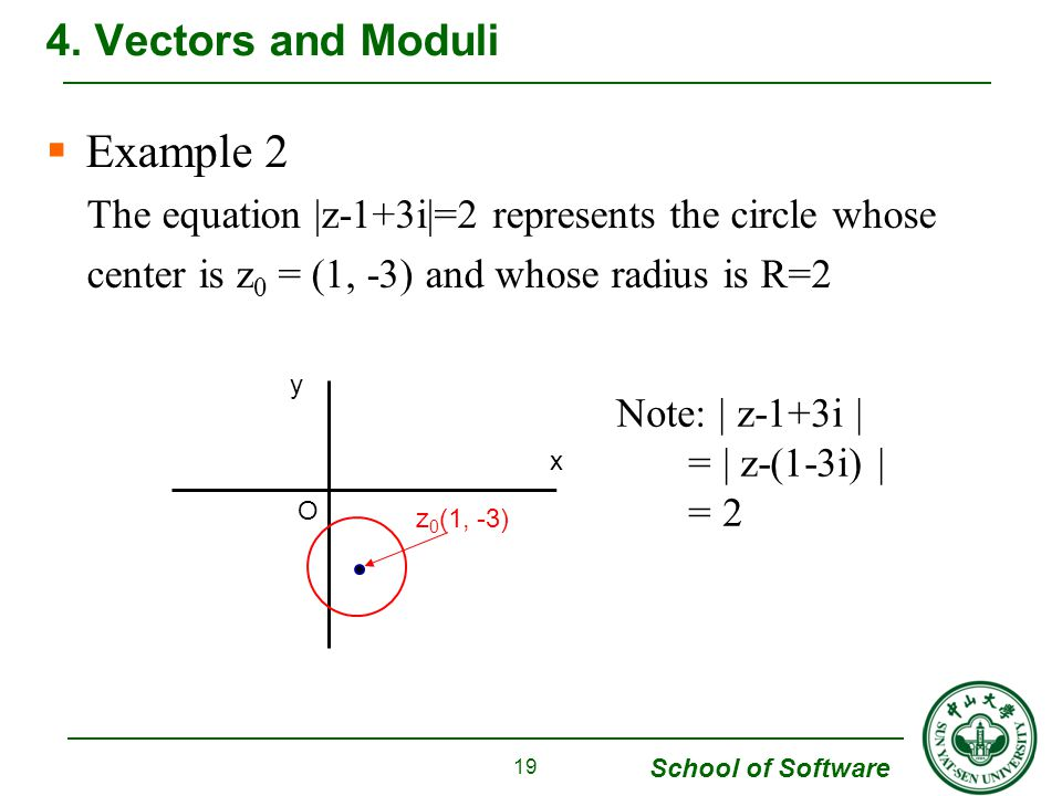 Example 2 4. Vectors and Moduli