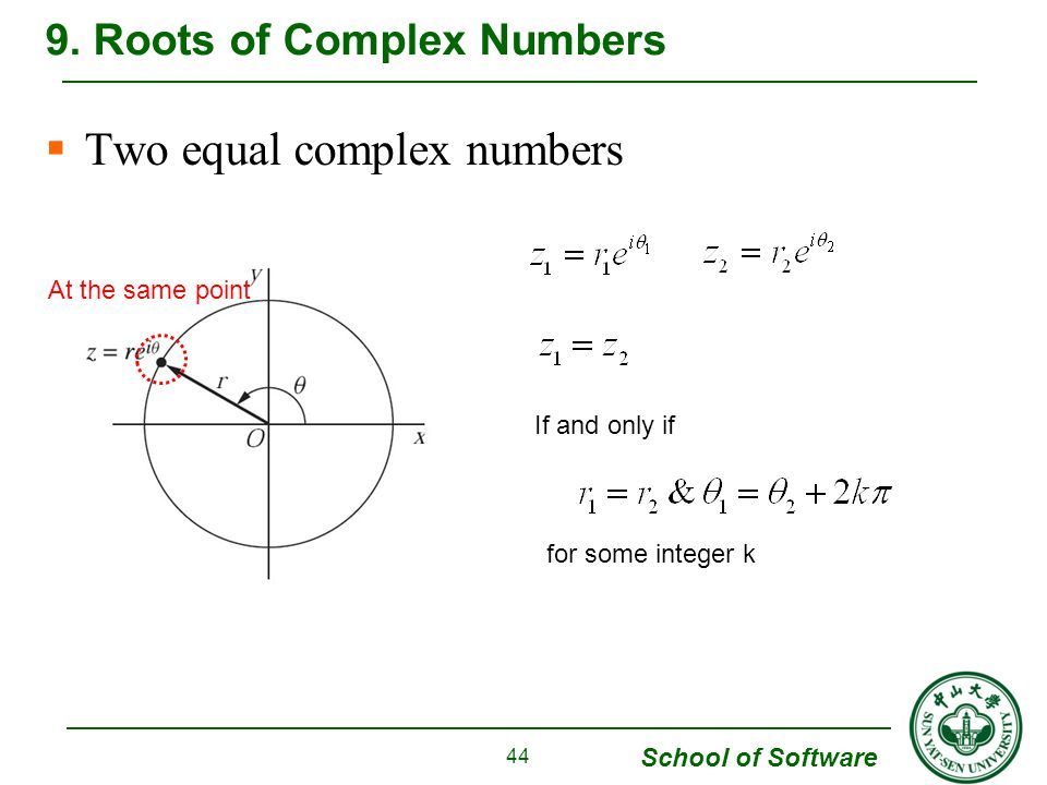 9. Roots of Complex Numbers