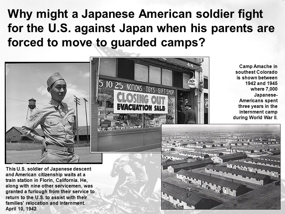 Why might a Japanese American soldier fight for the U. S