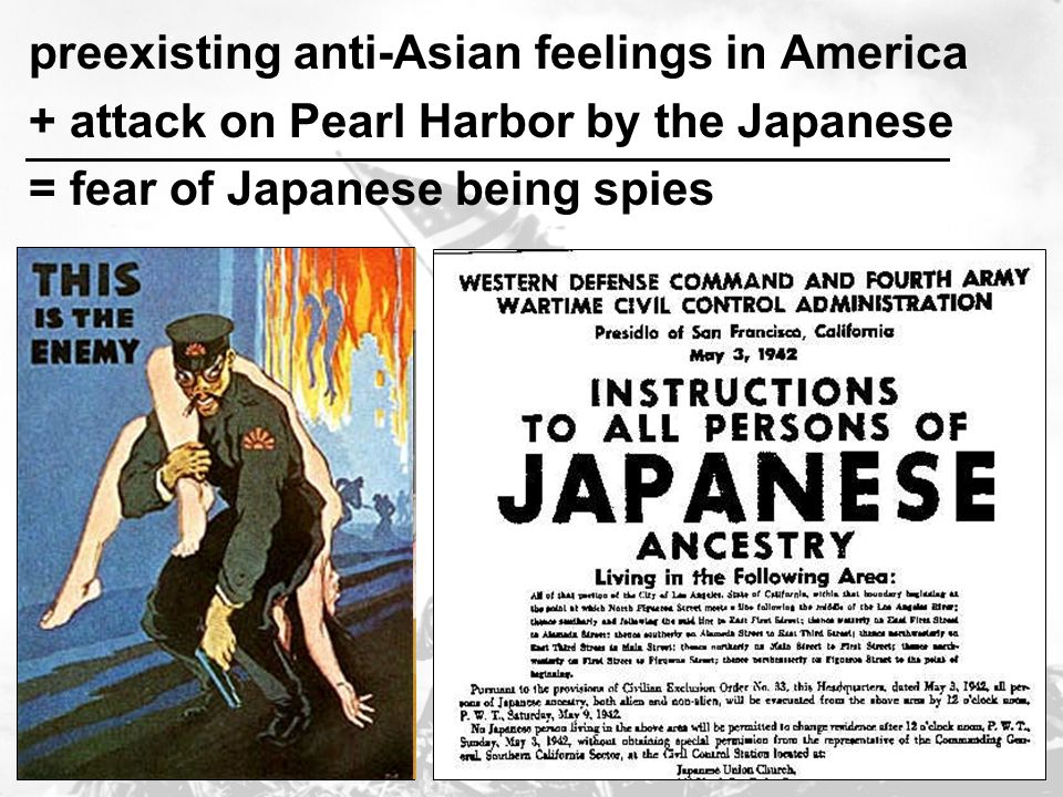 preexisting anti-Asian feelings in America