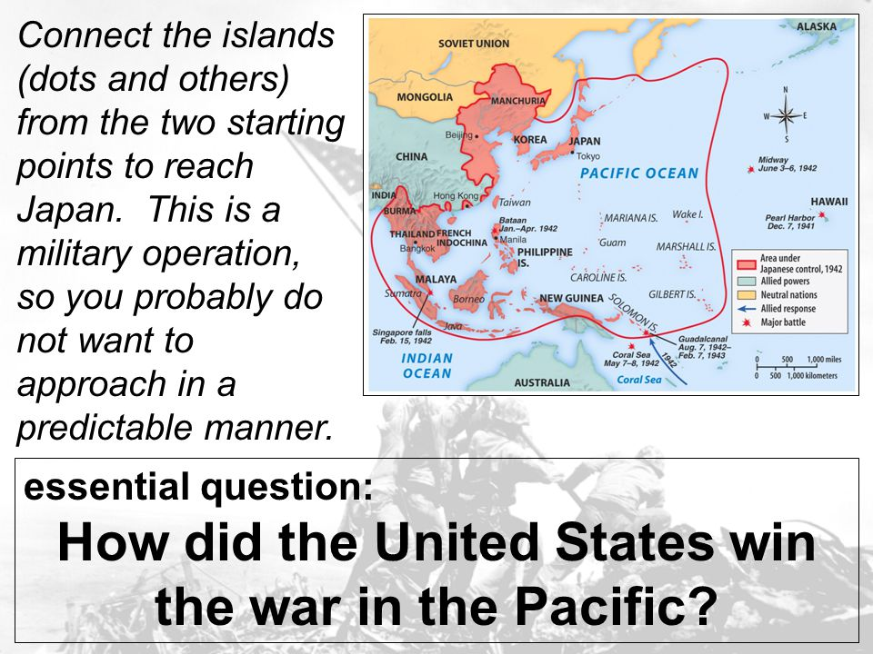How did the United States win the war in the Pacific
