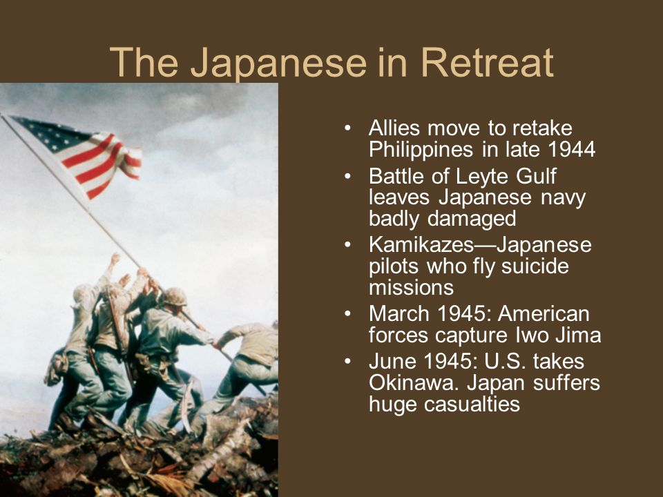 The Japanese in Retreat