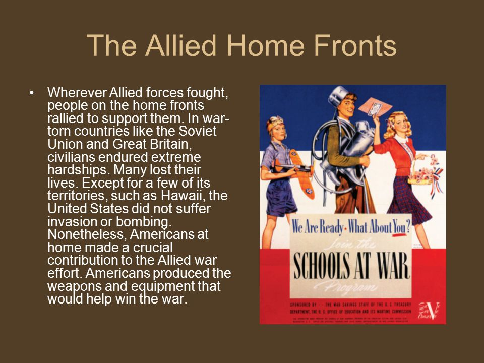 The Allied Home Fronts