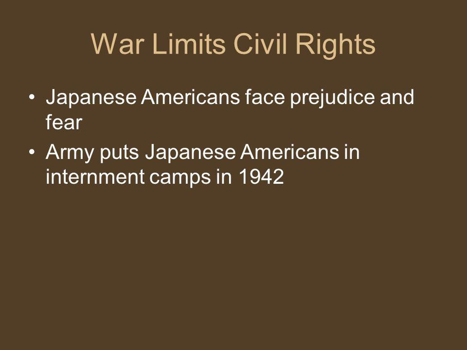 War Limits Civil Rights