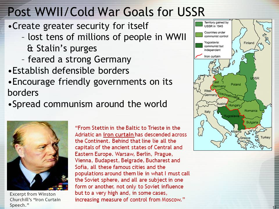 Post WWII/Cold War Goals for USSR