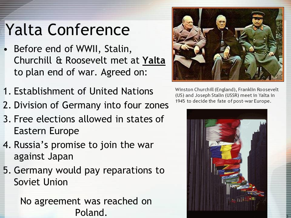 No agreement was reached on Poland.